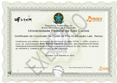 Modelo certificado
